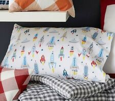 Pottery Barn Kids Wyatt Rocket TWIN Sheet Set