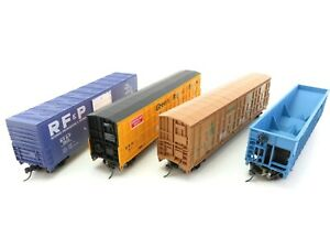 (ALK880) Life-Like Konvolut H0 DC 4er-Set US-Güterwagen OVP