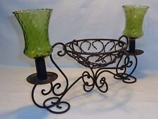 Vtg Antique Wrought Iron Candle Holder Spanish Revival Gothic Wedding Medieval