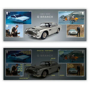 """UK 2020 James Bond Q Branch Miniature Sheet With """"007"""" Perf MUH Royal Mail"""