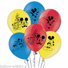"6 Topolino Disney's Children's Party 11"" 28cm 4 lati Stampato Palloncini in Lattice"