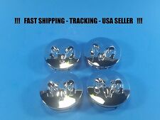 "4 New Chrome Center Caps For Dodge 2.1"" 55mm Center Logo Cap Rim Emblem"