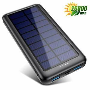 QTshine Power Bank Solare 26800Amh, [Type-C Veloce Ingressi] Caricabatterie...