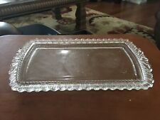 Vintage Art Deco Fancy Glass Vanity Tray Dresser Perfume Bottle Tray Excellent