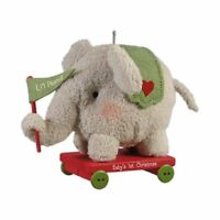 Li'l Peanut 2012 Hallmark Ornament  Elephant Plush Toy Red  Baby's 1st Christmas