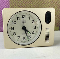 Vintage Picco Quartz Travel Alarm Clock- Works Great! Made In Japan / IG