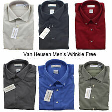 Van heusen clothing for men ebay for Best wrinkle free dress shirts