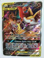 Charizard & Braixen GX FULL ART TAG TEAM SM230 Cosmic Eclipse Pokemon NM