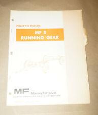 1975 Massey Ferguson MF 5 Running Gear Parts Book Manual P/N 650999M94