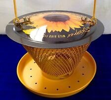 The No/No Sunflower Designer Wild Bird Feeder~Folds Almost Flat For Storage