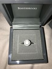 Beaverbrooks white gold diamond halo ring size L