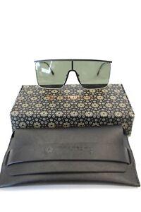 Unisex VIVIENFANG Black Sunglasses NEW In Case & Box  - K08