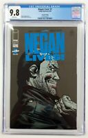 The Walking Dead NEGAN LIVES! #1 CGC 9.8 Blue Logo 2nd Print Variant 2020 Image