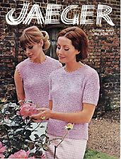 "Jaeger 4014 Vintage Womens Knitting Pattern 34-40""  Short Sleeve/Sleeveless Top"