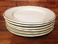 Vintage Lot Of 6 Homer Laughlin Gold Rimmed Plates