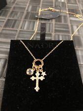 Nadri Cross & Star Cluster Pendant Necklace