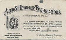 ARM & HAMMER BAKING SODA IS PURE BICARBONATE OF SODA,CHURCH & DWIGHT CO. N.Y.