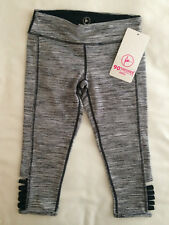 90 Degree By Reflex Girls Leggings Dance Pants Black Camo Sz 7 8