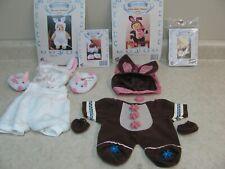 2 Tender Heart Treasures Treasured Toggery Easter Bear Outfits