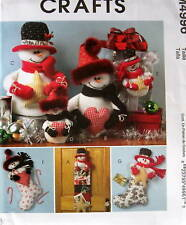 Christmas Snowman pattern Stocking cardholder table top wall hanging