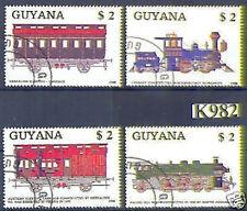 Guyana 1989: Eisenbahn-Satz Nr. 2475-2477, gest.! 18 €!