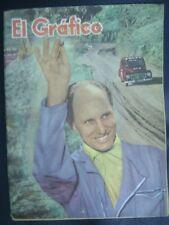 El Grafico Magazine Gunnar Andersson Racer On Cover 1960