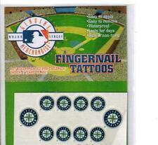 Seattle Mariners Baseball Fingernail Tattoos Set NEW