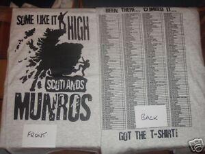 SCOTLAND MUNRO BAGGERS T-SHIRT SIZE LARGE