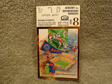 1992 Auburn - SW Louisiana 25-24 Dye's Last Homecoming Game Squeaker Ticket Stub