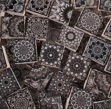 Ceramic Mosaic Tiles - Moroccan Tile Black Grey Moroccan Medallions Mosaic Tiles