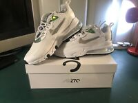 Nike Air Max 270 React Trainers In White & Green Men's UK Size 11 BNIB