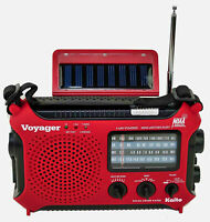 Katio KA500 AM FM Shortwave Solar Crank Emergency Weather Alert Radio Red