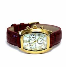 womens Lucien Piccard Swiss watch chronograph date 3 ATM box Roman numeral 51.0g
