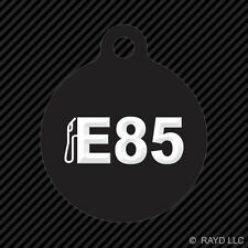 E85 Keychain Round with Tab dog engraved many colors fossil fuels ethanol fuel