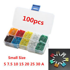 New 100pcs Assorted Car Small Size Low Profile Fuse Box 5 7.5 10 15 20 25 30 Amp