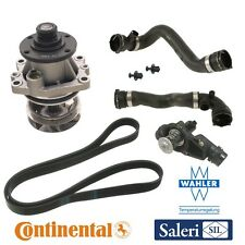 BMW E46 3 Series Cooling System Kit Water Pump Thermostat Radiator Hose Belt OEM