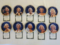 """MARILYN MONROE """"The Gold Collection"""" TEN PLATES Boxes COAs incl Sultry Yet Regal"""