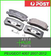 Fits PEUGEOT 4007 2007-2012 - Brake Pads Disc Brake (Rear)