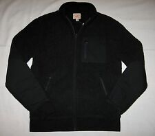 J.CREW BRAND NEW (NWT) MENS ZIPPER FRONT SWEATER JACKET Color:Black Size:M