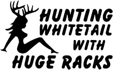 Hunting Whitetail with huge racks Sticker car vinyl decal