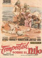 Programa de mano TEMPESTAD DOBRE EL NILO (Anthoney Steel y Laurence Harvey)