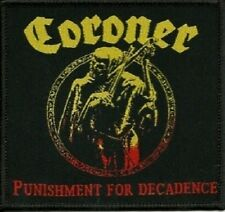 CORONER - Punishment For Decadence - Woven Patch / Aufnäher