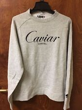 "Fleece Long Sleeve Pullover in Gray Size Small ""Caviar Cartel"""