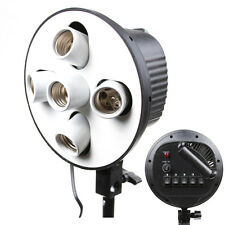 Ceramics E27 5 in 1 Bulb Socket Light Lamp Holder Adapter f Photo Studio Softbox