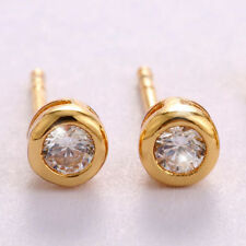 Butterfly Fastening Stud Yellow Gold Filled Fashion Earrings