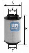 UFI 26.014.00 Fuel Filter.
