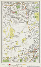 Epsom Ewell area Map London 1932 #161