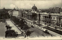 London England AK ~1910 The National Gallery Kunstmuseum Trafalgar Square Museum