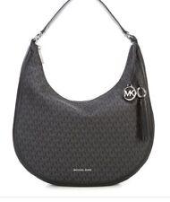 Michael Kors Lydia Signature Large Hobo Bag Black Silver