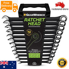 GEARWRENCH 12pcs Combination Ratchet Spanner Set Metric Gear Wrench Steel Hand